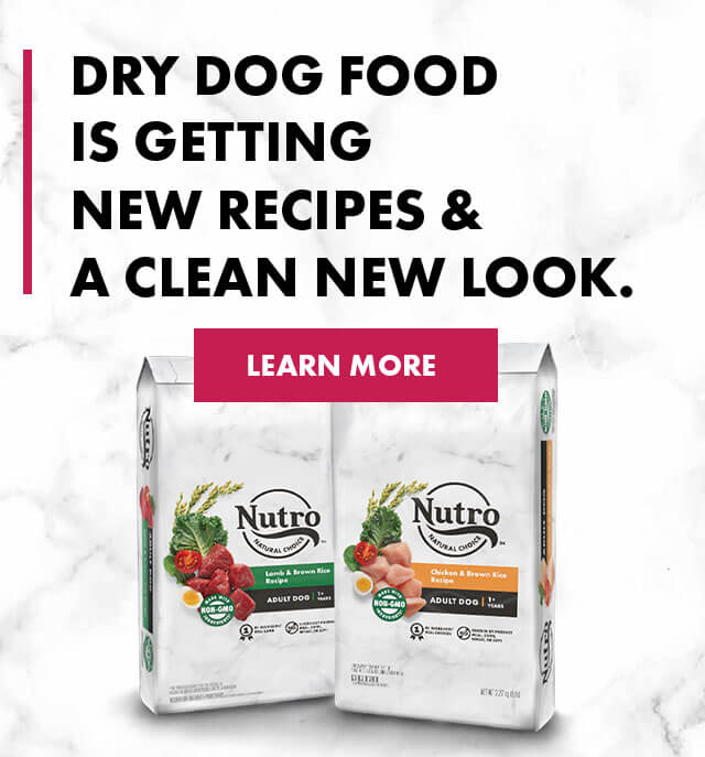 Dry dog food is getting new ingredients & a clean new look